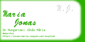 maria jonas business card